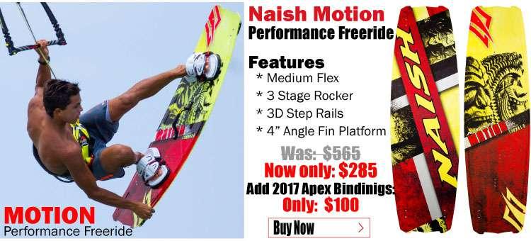 2016 Naish Motion and 2017 Naish Apex II