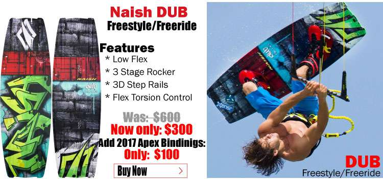 2017 Naish Dub with 2017 Apex II Bindings