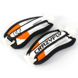 2015 Crazyfly QuickFix II Pro Kiteboarding Straps Orange