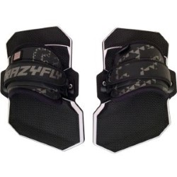 2015 Crazyfly Pro Pads with Quick Fix II Standard Kiteboard Straps Color Black (LTD)