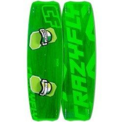 2015 Crazyfly Shox Green 133x43 Twintip Kiteboard - LAST ONE