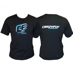 Crazyfly Dynamic Short Sleeve Water Jersey - Black