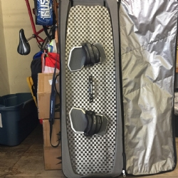 DEMO 2016-2017 Crazyfly Elite Twintip Kiteboard 132x41