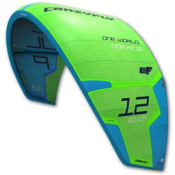Repaired NEW 2017 Crazyfly Sculp 13m Green Kite