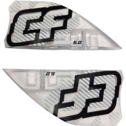 Crazyfly 5cm Razor Fins, Clear (set of 4)
