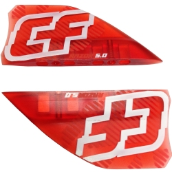 Crazyfly 5cm Razor Fins, Red (set of 4 w/ screws)