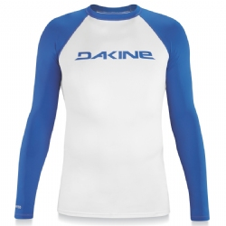 Dakine Long Sleeve Heavy Duty Rashguard - Blue/White