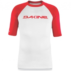Dakine Short Sleeve Heavy Duty Rashguard - Red/White