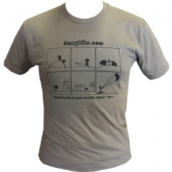 FixMyKite Comic Panel T-Shirt Grey
