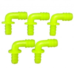 "Fixmykite.com 90 degree ""L"" adapter 7mm fitting Set of 5"