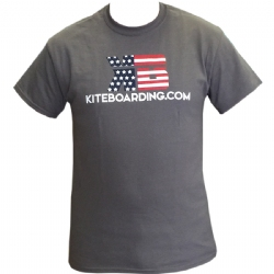 PreOrder Kiteboarding.com Patriotic T-Shirt - Charcoal