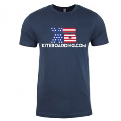 Kiteboarding.com Patriotic T-Shirt (Blue)