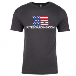 Kiteboarding.com Patriotic T-Shirt (Grey)