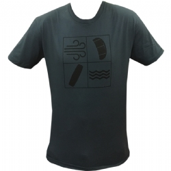 Kiteboarding Elements T-Shirt Blue