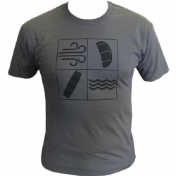 Kiteboarding Elements T-Shirt Grey