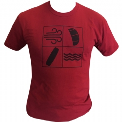Kiteboarding Elements T-Shirt Red