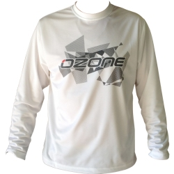 Ozone Wet Tech T-Shirt Long Sleeve - White