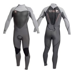 Rip Curl Flash Bomb Back Zip 4/3 Kiteboarding Wetsuit