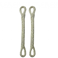 Slingshot Pigtail loop-loop, 3.5 inches, White (set of 2)